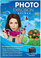 Nova 727298423617 Photo Explosion Deluxe Version 5 - Face Filter 2 Editing Software - PhotoStitcher - 10,000+ Photo Projects