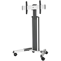 Chief LPAUS Large FUSION Manual Height Adjustable Mobile Cart - Up to 80' Screen Support - 200 lb Load Capacity - Flat Panel Display Type Supported47.8' Width - Floor Stand - Silver