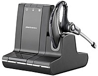 Plantronics Savi W730-M Earset - Mono - Wireless - DECT - 350 ft - Over-the-ear - Monaural - Open - Noise Cancelling Microphone