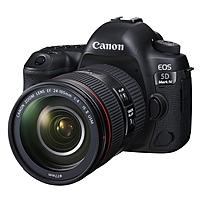 "Canon EOS 5D Mark IV 30.4 Megapixel Digital SLR Camera with Lens - 24 mm - 105 mm - Black - 3.2"" Touchscreen LCD - 16:9 - 4.4x Optical Zoom - Optical (IS) - TTL - 6720 x 4480 Image - 4096 x 2160 Video - HDMI - PictBridge - HD Movie Mode - Wireless LA"
