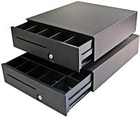 APG T371DG1616-K1 320 Interface Heavy Duty Cash Drawer with CD-005A CA - Dark Gray