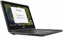 Dell CRM3180-83C80 Chromebook PC - Intel Celeron N3060 1.6 GHz Dual-Core Processor - 4 GB LPDDR3 RAM - 16 GB Solid State Drive - 11.6-inch Display - Chrome OS - Black