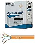 Black Box GigaBase 350 CAT5e, 350-MHz Solid Bulk Cable, PVC, Orange, 1000 ft. (304.8-m) - Category 5e for Network Device - 1000 ft - Bare Wire - Bare Wire - Orange