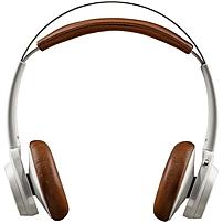 Plantronics BackBeat SENSE Wireless Headphones + Mic - Stereo - Tan, White - Mini-phone - Wired/Wireless - Bluetooth - 328.1 ft - 20 Hz - 20 kHz - Over-the-head - Binaural - Supra-aural - Yes