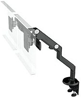 Humanscale M8 SOR4844M8 2-Monitor Mounting Kit - Aluminum,Steel - Black