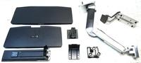 Ergotron® Desktop Monitor Stand - 24' Screen Support - 20 lb Load Capacity - 24' Screen Support - 20 lb Load Capacity - Black, Polished Aluminum