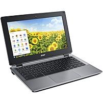 Acer C730E-C555 11.6' LCD Chromebook - Intel Celeron N2840 Dual-core (2 Core) 2.16 GHz - 4 GB DDR3L SDRAM - 16 GB Flash Memory - Chrome OS - 1366 x 768 - ComfyView - Iron - Intel HD Graphics DDR3L SDR