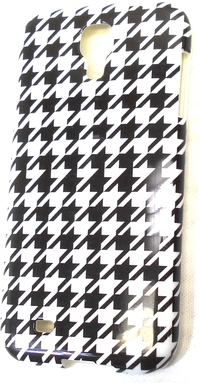 Couture 890968405784 Case for Samsung Galaxy S4 Smartphone - Black, White Houndstooth