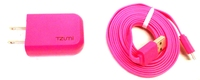 Tzumi 817243031247 Micro Chargepak 1A Charger with Cable - Pink