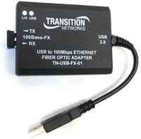 Transition Networks Fast Ethernet Card - USB 2.0 - 1 Port(s) - Optical Fiber