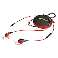 Bose SoundSport In-ear Headphones - Apple Devices - Stereo - Power Red - Mini-phone - Wired - Earbud - Binaural - In-ear - 3.51 ft Cable
