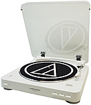 Audio-Technica Fully Automatic Wireless Belt-Drive Stereo Turntable - Belt DriveAutomatic Tone Arm - White - Bluetooth - Audio Line Out