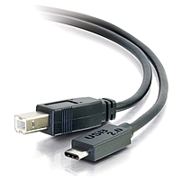 C2G 10ft USB 2.0 USB-C to USB-B Cable M/M - Black - USB Type-C Cable - USB for Printer, Hub - 60 MB/s - 10 ft - Type C Male USB - Type B Male USB - Black'