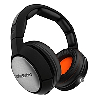 SteelSeries Siberia 840 Headset - Stereo - Matte Black, Orange - Wireless - Bluetooth - 32.8 ft - 20 Hz - 20 MHz - Over-the-head - Binaural - Circumaural