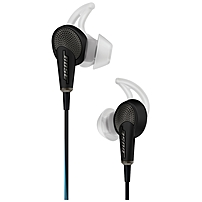 Bose QuietComfort 20 Acoustic Noise Cancelling Headphones Apple Devices - Stereo - Black - Mini-phone - Wired - Earbud - Binaural - In-ear - 4.33 ft Cable - Yes