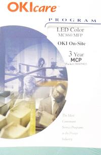 Okidata 38005903 3 Year Onsite Warranty for MCP MC860 MFP