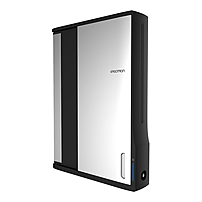 Ergotron Zip12 Charging Wall Cabinet - Up to 12' Screen Support - 44.40 lb Load Capacity - 35.6' Height x 26.4' Width x 5.9' Depth - Wall Mountable - Steel - Black, Silver