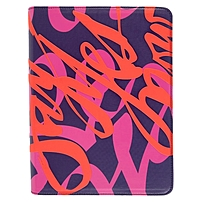 Verso Artist Carrying Case for 10.1' iPad - Faux Leather, MicroFiber Interior - Say Yes Now - 10.6' Height x 8.5' Width