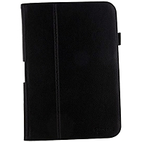 rooCASE Dual Station Folio Case Cover for Google Nexus 10 - Black - Synthetic Leather - 10.9' Height x 7.7' Width x 0.7' Depth