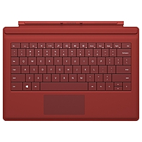 Microsoft Type Cover Keyboard/Cover Case (Flip) for Tablet - Bright Red - Bump Resistant Interior, Scratch Resistant Interior - 7.4' Height x 10.5' Width x 0.2' Depth
