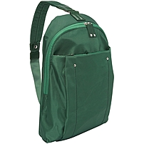 WIB Miami City Slim Backpack for up-to 14.1' Notebook , Tablet, eReader - Green - Twill Polyester - Twill Polyester, Microsuede - Shoulder Strap