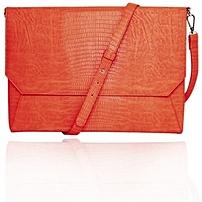 Francine Collection Lenox Carrying Case (Sleeve) for 11' Tablet - eReader, Notebook - Orange - Faux Leather