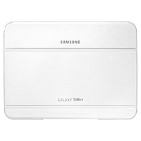 Samsung Carrying Case (Book Fold) for 10.1' Tablet - White - Synthetic Leather - 7' Height x 9.7' Width x 0.5' Depth