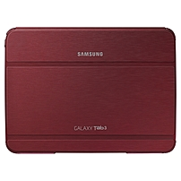 Samsung Carrying Case (Book Fold) for 10.1' Tablet - Red - Synthetic Leather - 7' Height x 9.7' Width x 0.5' Depth