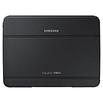 Samsung Carrying Case (Book Fold) for 10.1' Tablet - Black - Synthetic Leather - 7' Height x 9.7' Width x 0.5' Depth