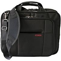 Codi Riserva 15.6' Triple Compartment Case - Ballistic Nylon, Nylon Interior - Shoulder Strap, Handle, Trolley Strap - 12.5' Height x 16' Width x 5.8' Depth