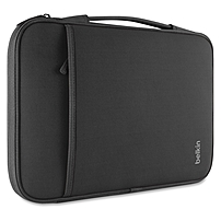 Belkin Carrying Case (Sleeve) for 11' MacBook Air, Notebook, Tablet - Black - Wear Resistant, Tear Resistant - Neoprene, Fleece Interior - Handle - 8' Height x 12.6' Width x 0.8' Depth