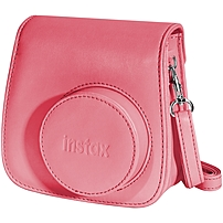 Fujifilm Groovy Carrying Case for Camera - Raspberry - Dust Resistant Interior, Scratch Resistant Interior - Polyurethane Leather - Shoulder Strap