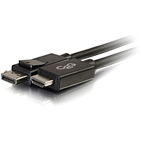 C2G 6ft DisplayPort to HDMI Adapter Cable - Black - DisplayPort/HDMI for Notebook, TV, Projector, Audio/Video Device - 6 ft - 1 x DisplayPort Male Digital Audio/Video - 1 x HDMI Male Digital Audio/Vid