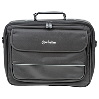 Manhattan Times Square 15.4' Widescreen Laptop Briefcase - Top load laptop briefcase fits most widescreens up to 15.4''