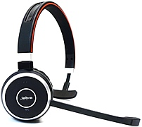 Jabra EVOLVE 65 With Charging Stand MS Mono - Mono - Wireless - Bluetooth - 98.4 ft - 150 Hz - 7 kHz - Over-the-head - Monaural - Supra-aural - Yes