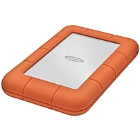 LaCie Rugged Mini 2 TB External Hard Drive - USB 3.0 - 5400rpm - Portable - Orange, Silver - 1 Pack
