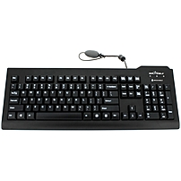 Seal Shield Silver Seal Glow Medical Grade Keyboard - Cable Connectivity - USB Interface - 104 Key - English, French - Compatible with PC, Mac - Membrane