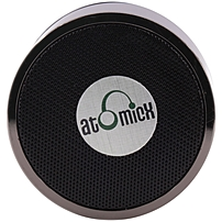 AtomicX SP-S10B Speaker System - Yes - Battery Rechargeable - Wireless Speaker(s) - Black - 30 ft - Bluetooth