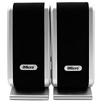 iMicro 2.0 Speaker System - 14 W RMS - Black, Silver - 160 Hz - 20 kHz - USB