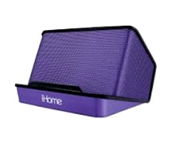 iHome iHM27 Speaker System - Yes - Battery Rechargeable - Purple - USB
