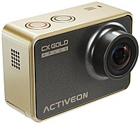 ACTIVEON Digital Camcorder - 2' - Touchscreen LCD - CMOS - Full HD - Gold - 16:9 - 4x Digital Zoom - Electronic (IS) - HDMI - USB - microSDXC, microSDHC - Memory Card