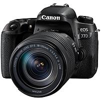 "Canon EOS 77D 24.2 Megapixel Digital SLR Camera with Lens - 18 mm - 135 mm - 3"" Touchscreen LCD - 16:9 - 7.5x Optical Zoom - Optical (IS) - E-TTL II - 6000 x 4000 Image - 1920 x 1080 Video - HDMI - PictBridge - HD Movie Mode - Wireless LAN 1892C002"