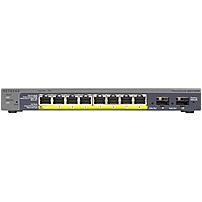 Netgear Prosafe 8-Port Gigabit PoE Smart Switch with 2 Gigabit Fiber SFP - Manageable - 2 Layer Supported - Desktop, Wall Mountable