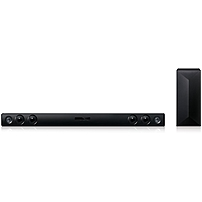 LG LAS454B 2.1 Sound Bar Speaker - 300 W RMSPlacement: Wall Mountable - Wireless Speaker(s) - Dolby Digital, DTS Digital Surround - Bluetooth - Wireless Audio Stream, Auto Volume Leveler, Dynamic Rang