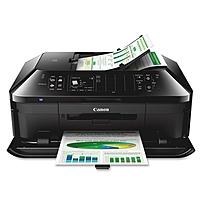 Canon PIXMA MX922 Inkjet Multifunction Printer - Color - Photo/Disc Print - Desktop - Copier/Fax/Printer/Scanner - 15 ipm Mono/10 ipm Color Print (ISO) - 21 Second Photo - 9600 x 2400 dpi Print - Auto