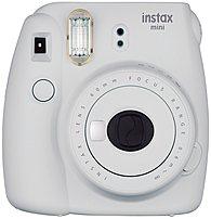 Fujifilm instax mini 9 16550629 Instant Film Camera - Fujinon 60 mm f/12.7 Lens - 0.37x Viewfinder - Smokey White
