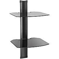 Kanto Mounting Shelf for Cable TV Box, Gaming Console, Satellite Receiver, Blu-ray Player - 45 lb Load Capacity - Black AVS2 AVS2