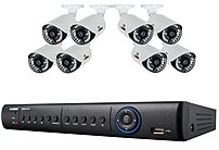 Image of Lorex LH1896 8-Channel Security Camera System - ECO4 DVR - 1 TB Hard Drive - 8 x 700TVL Cameras - 960H Resolution - BNC Cabling