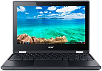 "Acer R 11 2-in-1 11.6"" Touch-Screen Chromebook Intel Celeron 4GB Memory 16GB eMMC Flash Memory Black C738TC8Q2"