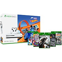 Microsoft Xbox One S 500GB Console - Forza Horizon 3 Hot Wheels Bundle - Game Pad Supported - Wireless - White - AMD Radeon Graphics Core Next - 3840 x 2160 - 16:9 - 2160p - Blu-ray Disc Player - 500 GB HDD - - Octa-core (8 Core) ZQ9-00202 ZQ9-00202
